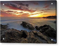 Dawn At The Rocks Acrylic Print by Mark Lucey