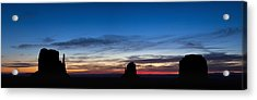 Dawn Breaking Over The Mittens Acrylic Print by Andrew Soundarajan
