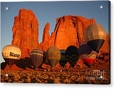 Dawn Flight In Monument Valley Acrylic Print by Vivian Christopher