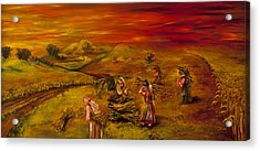 Dawn In The Land That I Love Acrylic Print by Itzhak Richter