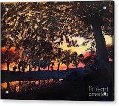 Dawn On The Canal Acrylic Print