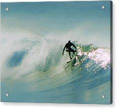 Dawn Surfer Acrylic Print by David Rearwin