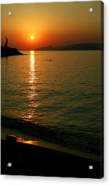 Dawn Swimmer Acrylic Print by Paul Cowan