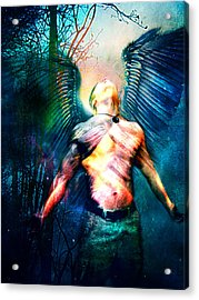 Acrylic Print featuring the digital art Dawning Angel by Nada Meeks