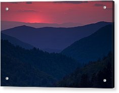 Day Over In The Smokies Acrylic Print