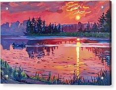 Daybreak Reflection Acrylic Print by David Lloyd Glover