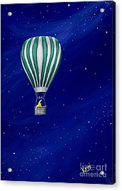 Daydreaming In A Hot Air Balloon Acrylic Print