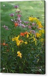 Daylilies 2012 Detail Acrylic Print