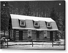 Days Of Yore Log Cabin Acrylic Print by John Stephens