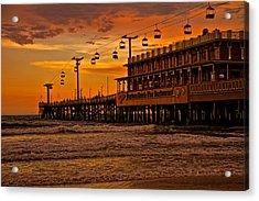 Daytona Beach Pier At Sunset Acrylic Print
