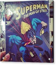 #dccomics #superman Acrylic Print