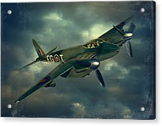 Acrylic Print featuring the photograph De Haviland Mosquito by Steven Agius