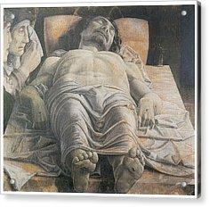 Dead Christ Acrylic Print by Andrea Mantegna