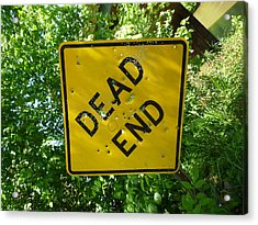 Dead End Target Acrylic Print by Douglas Fromm