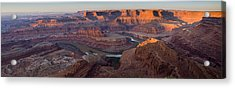 Dead Horse Point Panorama Acrylic Print by Andrew Soundarajan