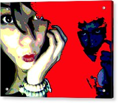 Deadly Kisses Acrylic Print by Jimi Bush