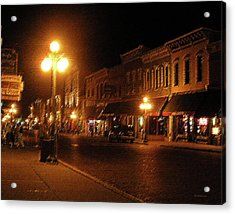 Deadwood Night Acrylic Print by Liz Evensen