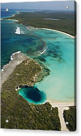 Deans Blue Hole, Earths Deepest Known Acrylic Print by Wes C. Skiles