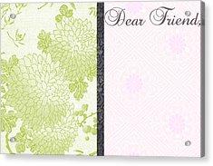 Dear Friend 2 Acrylic Print