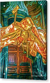 Acrylic Print featuring the painting Death At The Vatican by Gregory Dyer