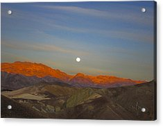 Death Valley Moonrise Acrylic Print
