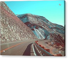 Death Valley Road 2 Acrylic Print by Naxart Studio