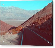 Death Valley Road 3 Acrylic Print by Naxart Studio