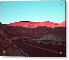 Death Valley Road 4 Acrylic Print by Naxart Studio