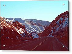 Death Valley Road Acrylic Print by Naxart Studio