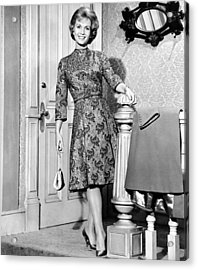 Debbie Reynolds In A Travilla-designed Acrylic Print by Everett