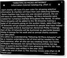 Debuting 50 Micro Artworks Part 1  Acrylic Print by Phillip H George