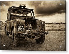 Decaying Landrover At Dungeness Acrylic Print by David Turner