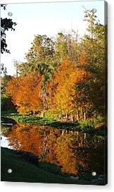 Acrylic Print featuring the photograph December Morn On Deerfield Creek by Judy Hall-Folde