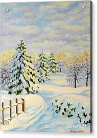 December Morning Acrylic Print