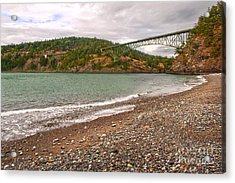 Deception Pass Washington Acrylic Print by Artist and Photographer Laura Wrede