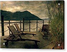 Deck Chairs Acrylic Print by Joana Kruse