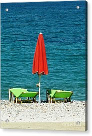 Deck Chairs Acrylic Print by Therese Alcorn
