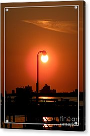 Deck Lamp Acrylic Print by Laurence Oliver