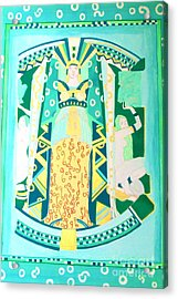 Acrylic Print featuring the painting Deco Green by Beth Saffer