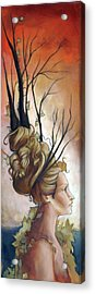 Deco On Her Mind  Acrylic Print by Jacque Hudson