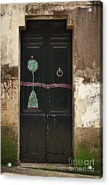 Decorated Door Acrylic Print by Mary Machare