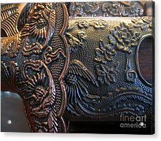 Decorated Parts  Of A Sword Acrylic Print by Yali Shi