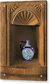 Decorative Carafe In An Alcove Acrylic Print by Kantilal Patel