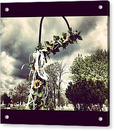 #decorative #decoration #cemetery Acrylic Print