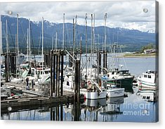 Deep Bay Harbor Acrylic Print by Artist and Photographer Laura Wrede