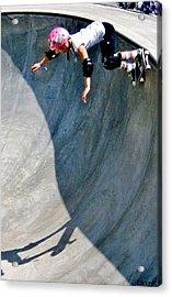 Deep End And Bubblegum Acrylic Print by Douglas Kriezel