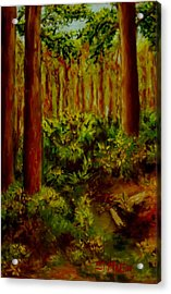 Deep In The Pines Acrylic Print by Annie St Martin