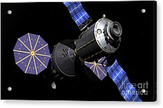 Deep Space Vehicle And Extended Stay Acrylic Print by Walter Myers