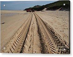 Deep Tracks - Soft Sand Acrylic Print by Keith Sutton