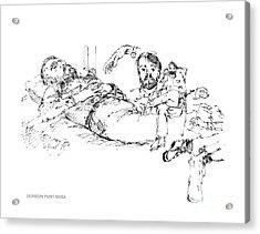 Deepfreeze-s.pole-art7 Acrylic Print by Gordon Punt